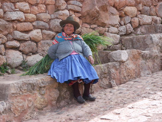 woman at Ollayntaytambo