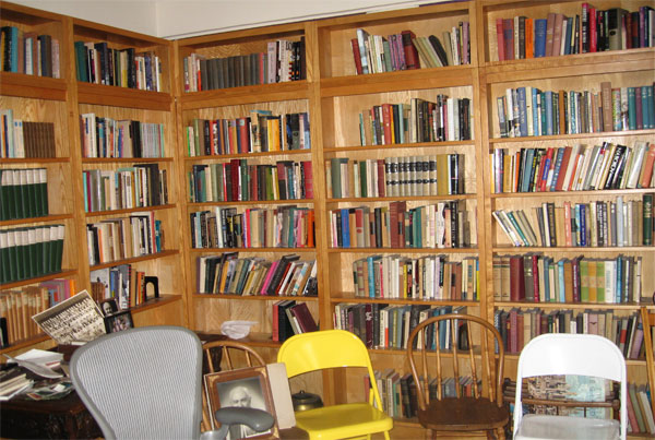 just a few books in the dining room